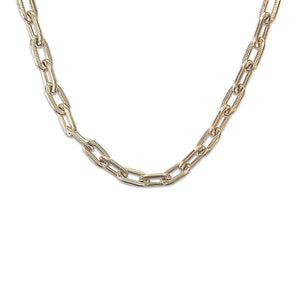 Lavish Links Gold Chain Necklace