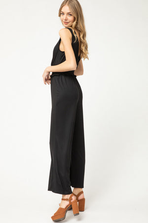 Black Tank V-Neck Jumpsuit