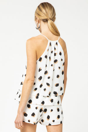 Dotted Ruffle Romper