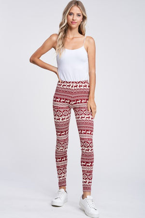 Holiday Print Knit Leggings