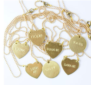 Hand Stamped Tag Necklaces