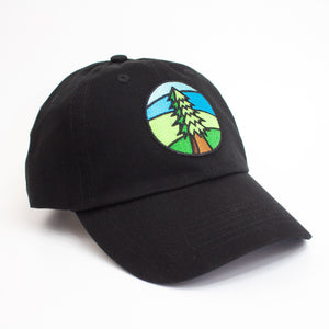 Black Tree Dad Hat