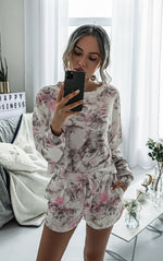 Work From Home Pink Floral Loungewear