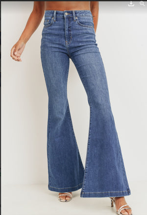 High Rise Bell Bottom Medium Denim