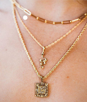 Gold Filled Snake Necklace