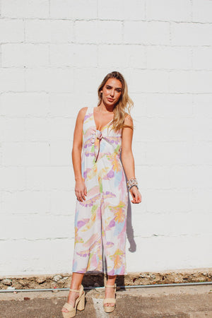 Rainbow Palm Jumpsuit