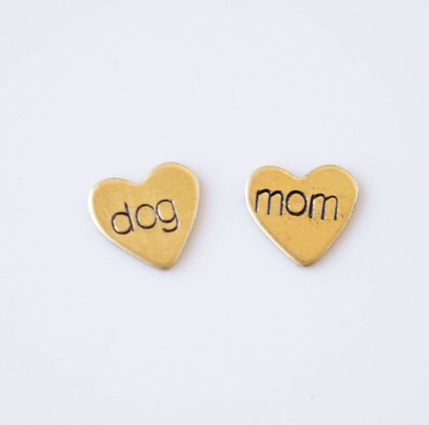 Dog Mom Heart Earrings
