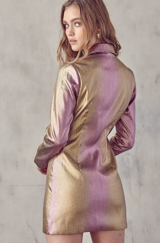 Sparkle Metallic Blazer