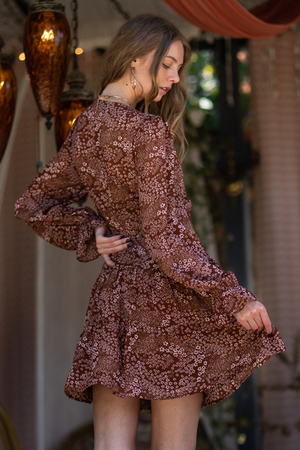 Long Sleeve Tier Short Dress