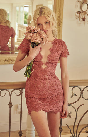 Lace Peekaboo Dress