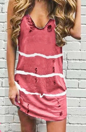 Distressed Dip Dye Tank Dress