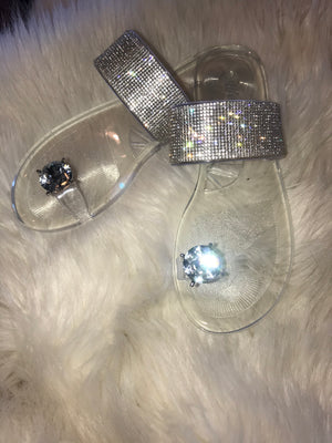 Clear Crystal Jelly Sandals