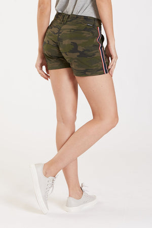 Camo Short with Side Stripe