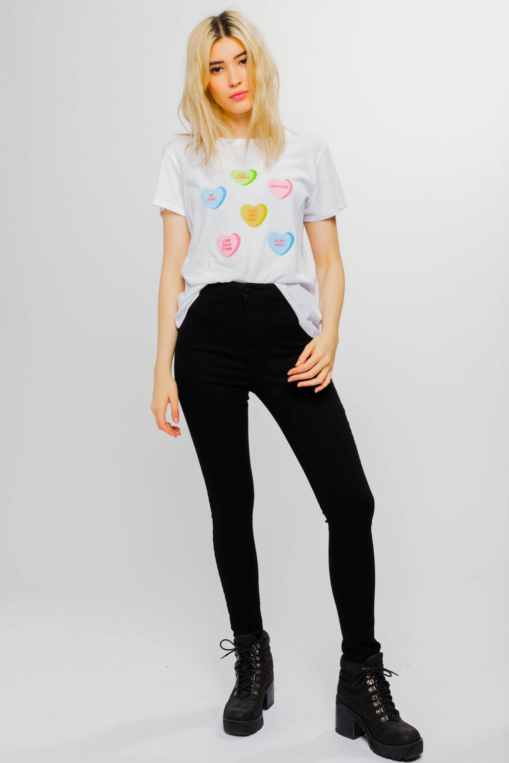 Candy Hearts Loose Tee