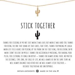 Stick Together Cactus Necklace