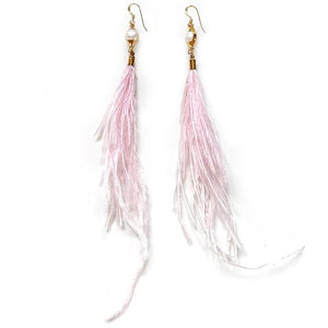Blush Feather and Pearls