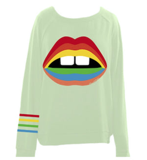 Everly Rainbow Gap Mouth Shirt Lauren Moshi