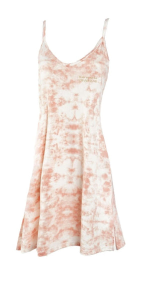 Wake Me Up For Champagne Slip Dress Pink Tie Dye