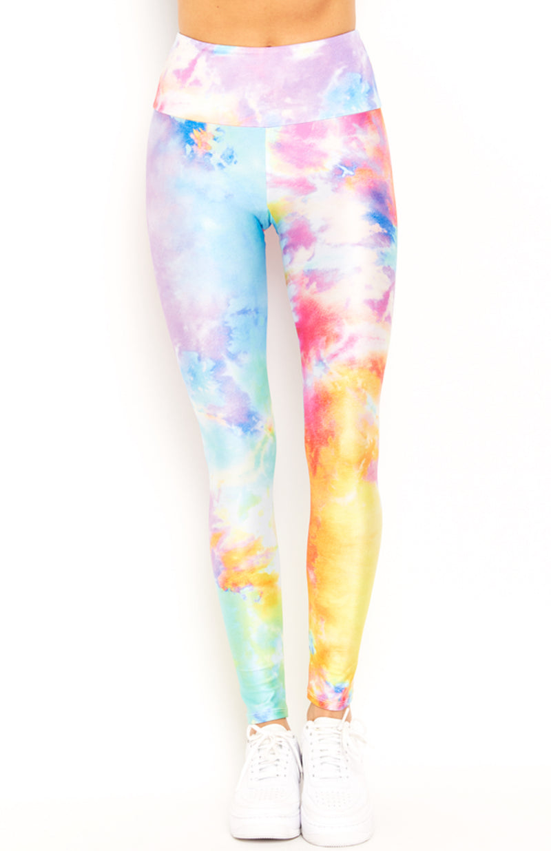 Rainbow Tie Dye Leggings Crop