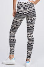 Holiday Print Leggings Black