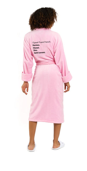 Fluent French Pink Plush Robe