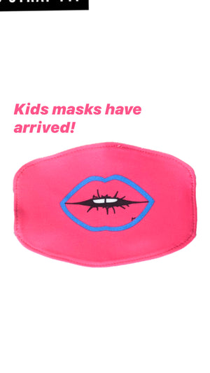 Kids Hot Pink Lips Fashion Mask