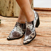 Multi Snake Loafer Chunk Heel