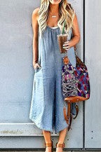 Off Shoulder Loose Fit Jumpsuit
