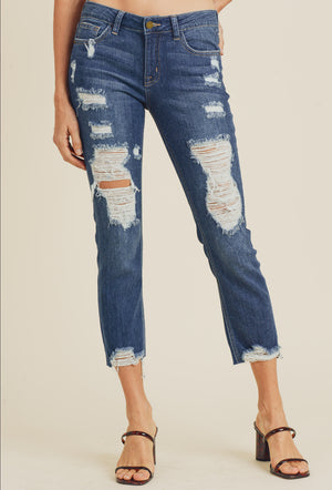 Super Distressed Straight