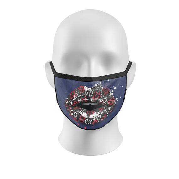 GG Grafitti Fashion Mask Blue