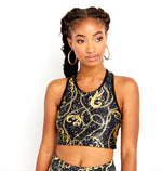 Chains and Graffiti Crop Top