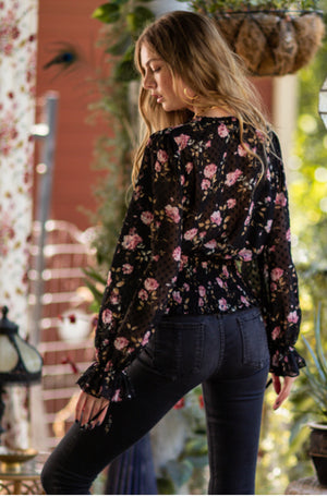 Floral Long Sleeve Blouse