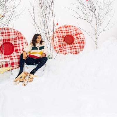 Plaid Winter Snow Tube