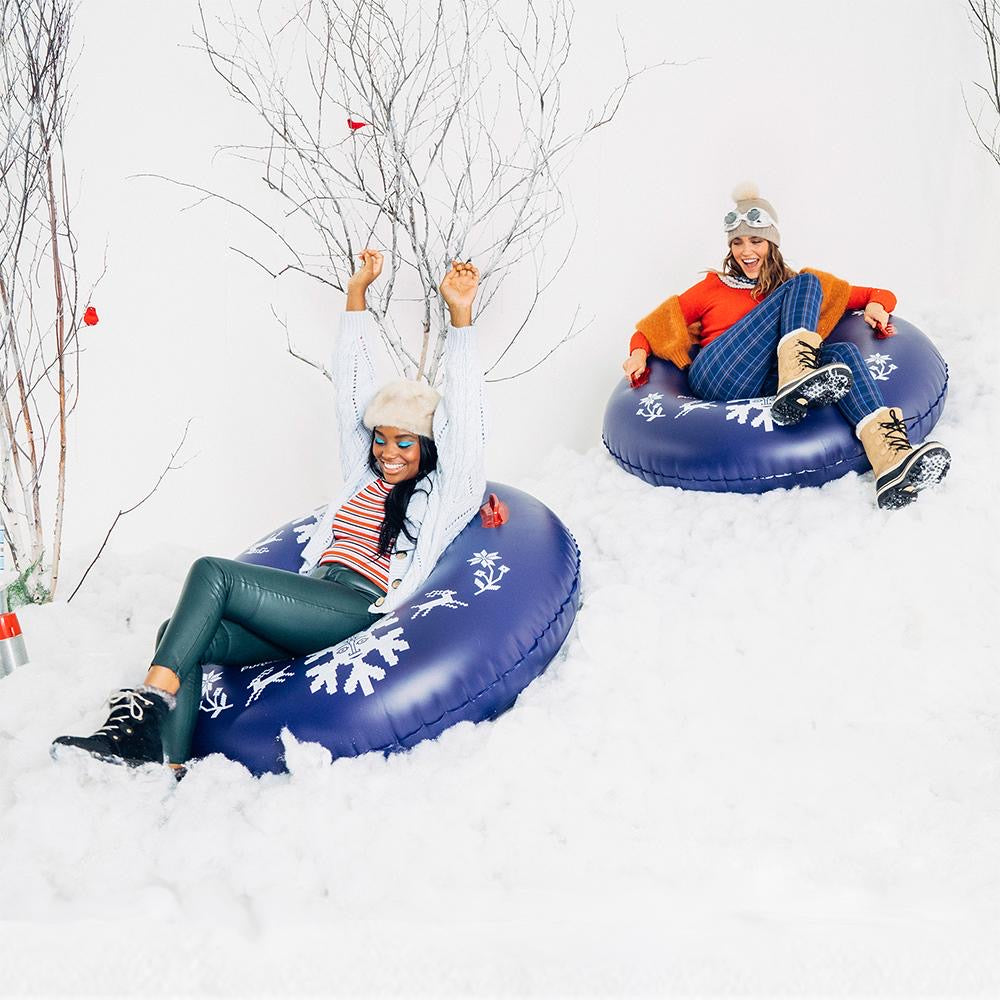 Inflatable Winter Snowflake Tube