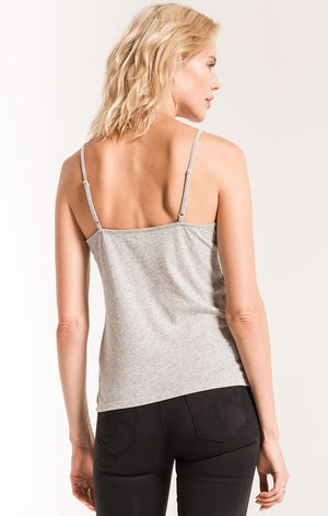 The Perfect Cami Top-Heather Grey
