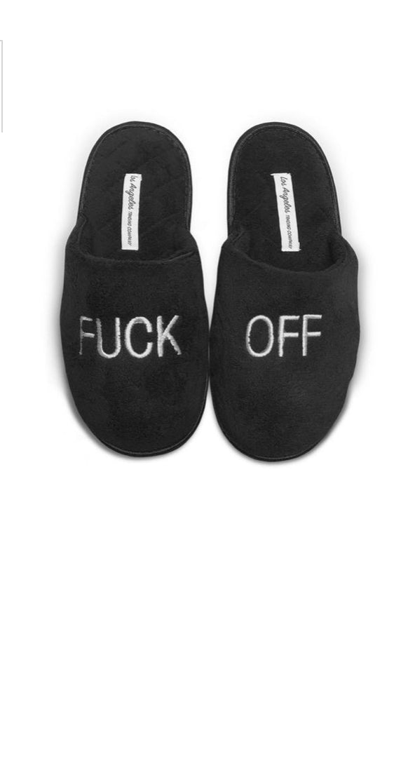 Unisex Slippers F Off Black