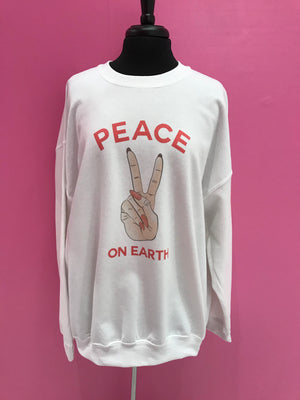 Peace On Earth Oversized Sweatshirt