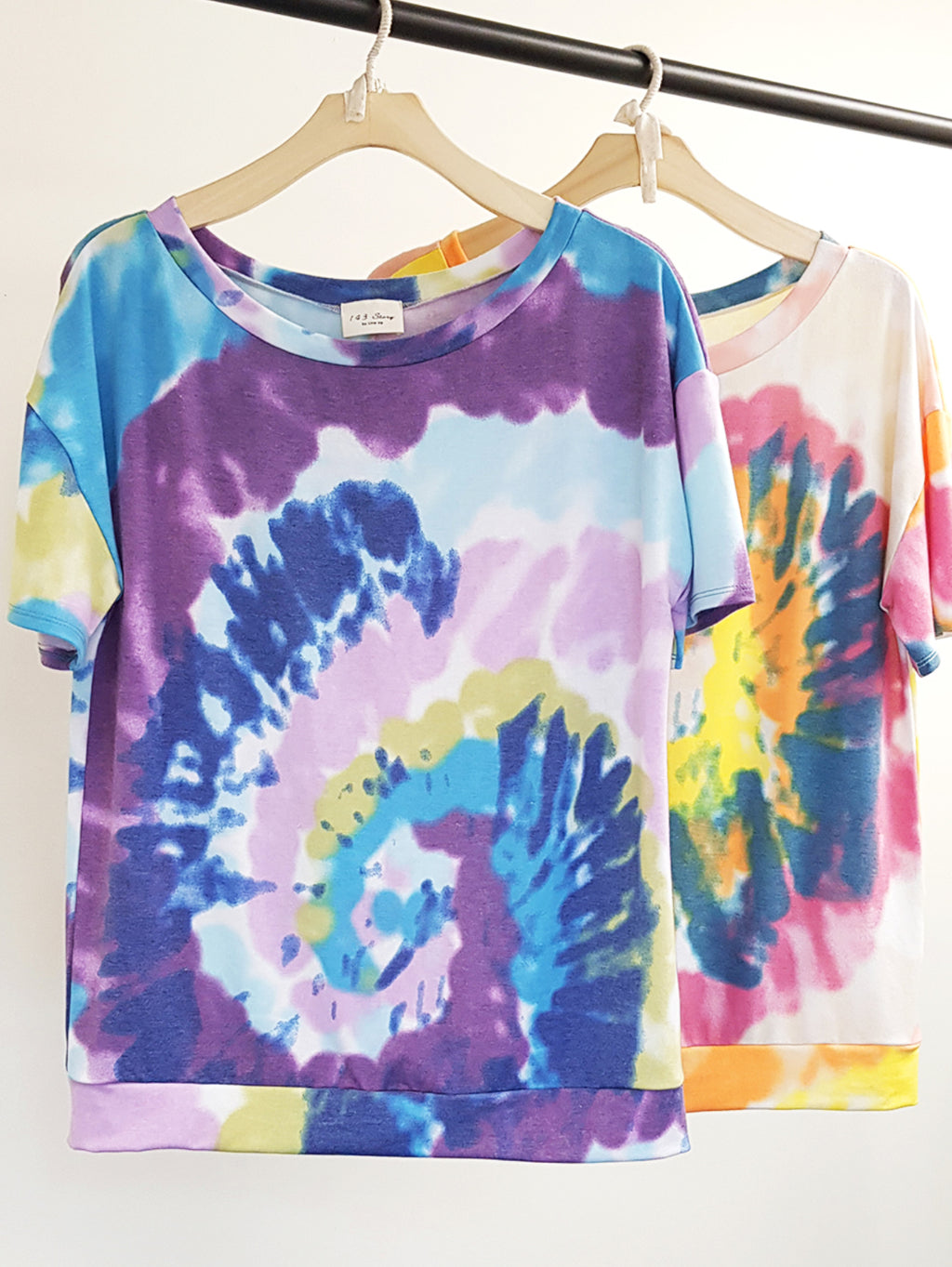 Spinal Tie Dye Wide Neck Loose Fit