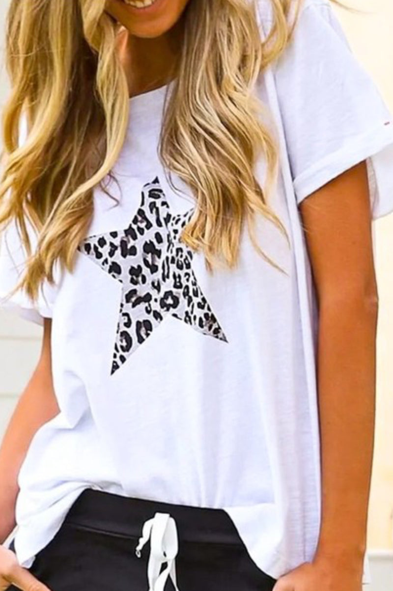 Star Shaped Leopard Top
