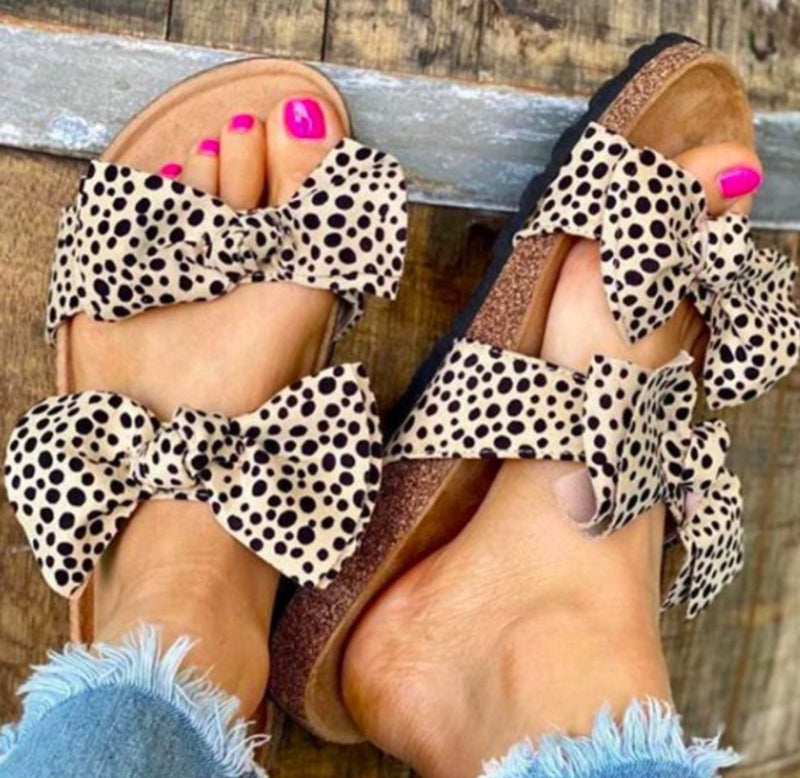 Cheetah Double Bow Sandal