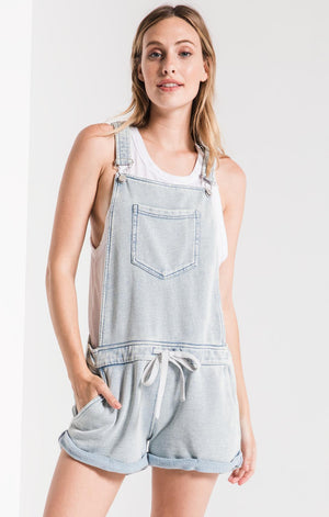 The Knit Denim Shortalls