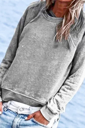 Grey Soft Oversized Sweatshirt