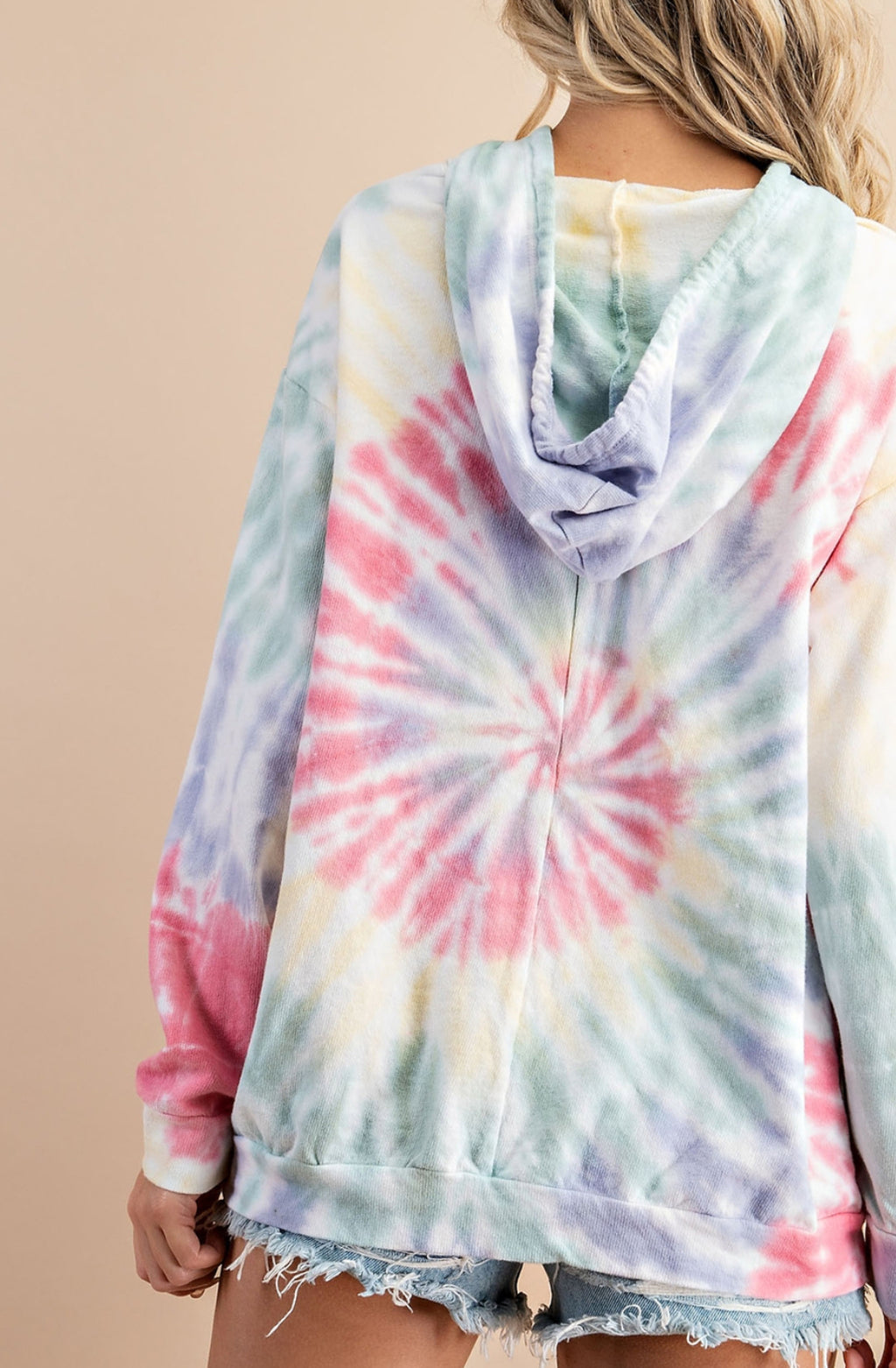 Tie Dye Pullover with Pockets