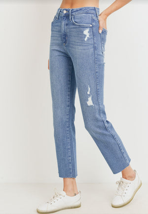 High Rise Straight Leg Denim