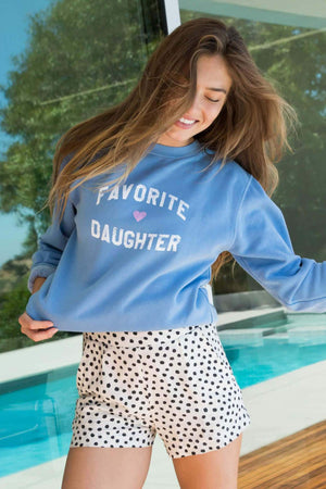 Favorite Daughter Sweatshirt Blue