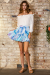 Watercolor Tie Dye Flare Skirt