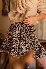 Bottom Ruffled Mini Skirt