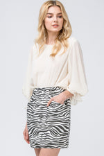Zebra High Waist Skirt