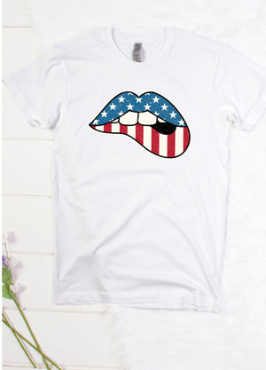 Red, White And Blue Mouthy Tee