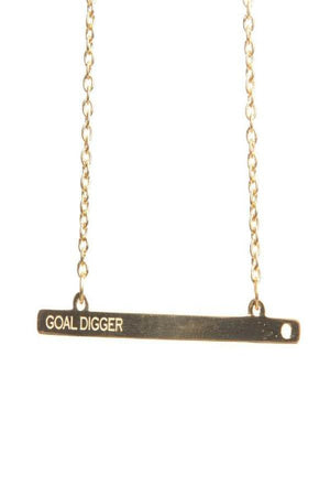 Goal Digger Gold Bar Necklace